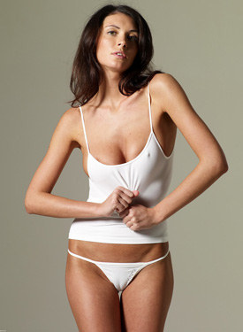 White underwear and cameltoe