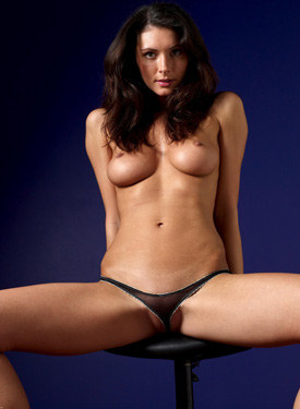 Black thong cameltoe