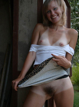 Sexy hairy pussy blonde goddess