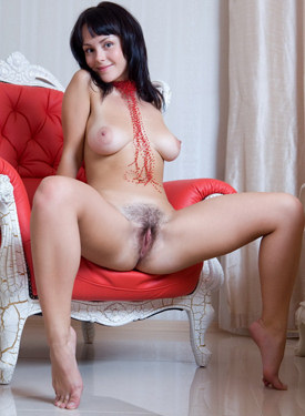 Hairy pussy goddess with big boobs