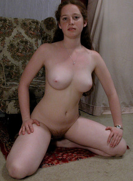 Lovely young hairy pussy goddess