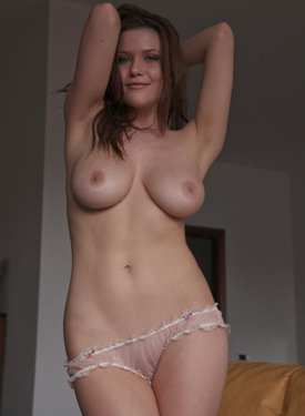 Playful goddess with big boobs