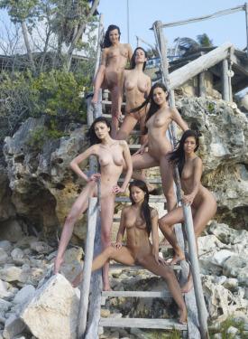 Girls in bikini and nude