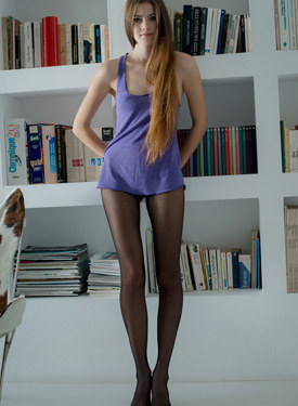 Super young model in nylon
